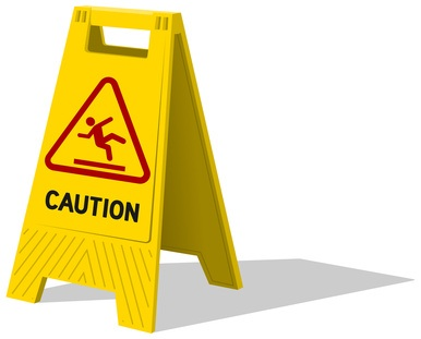 sliding on a wet floor is one of the most common house cleaning hazards